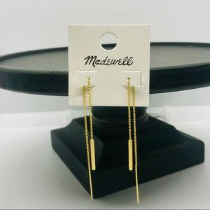 NWT Madewell Threader Earrings